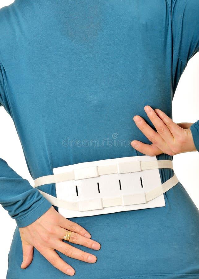 脊椎的传送带括号 库存照片