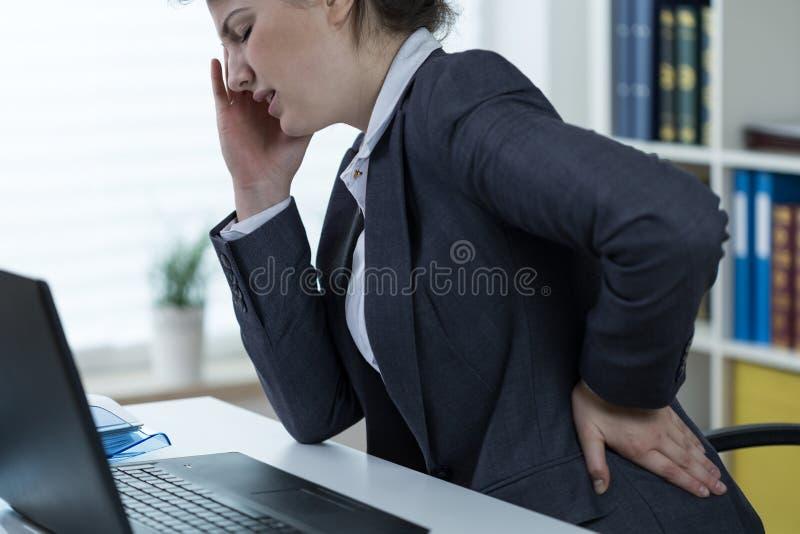脊椎的问题在事务 图库摄影