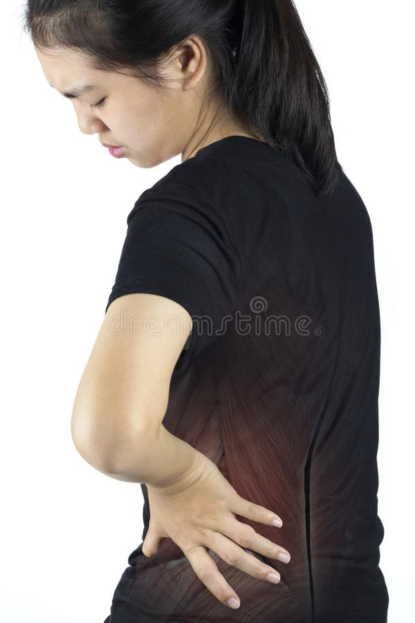 脊椎肌肉损伤 免版税图库摄影