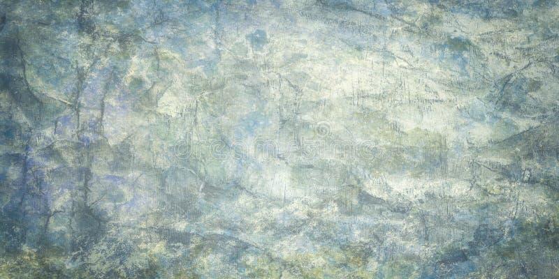 脏兮兮、抽象粗剥白蓝的旧皱纸背景 库存照片