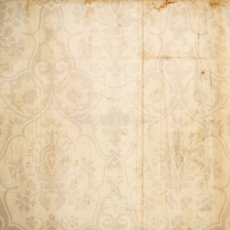 脏古色古香的背景褐色的锦缎 库存图片
