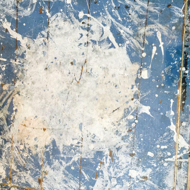 脏的有斑点的工业困厄的木地板纹理 库存例证