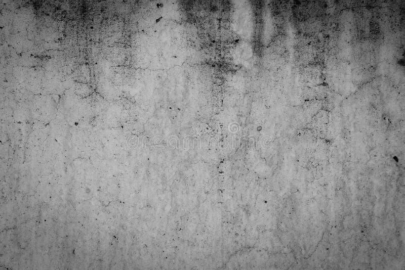脏的混凝土墙和地板作为背景 免版税库存图片