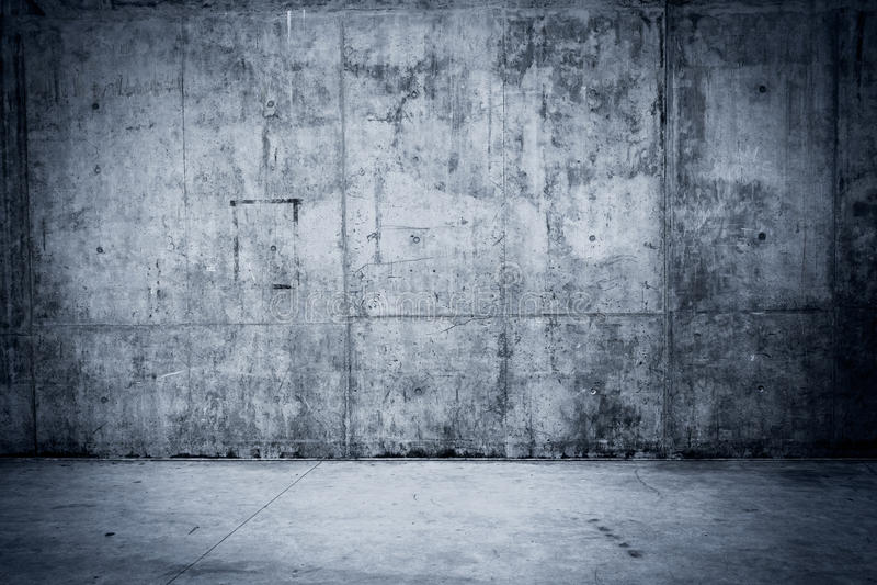 脏的混凝土墙和地板作为背景 图库摄影