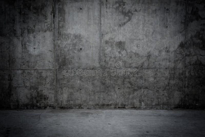 脏的混凝土墙和地板作为背景 免版税图库摄影
