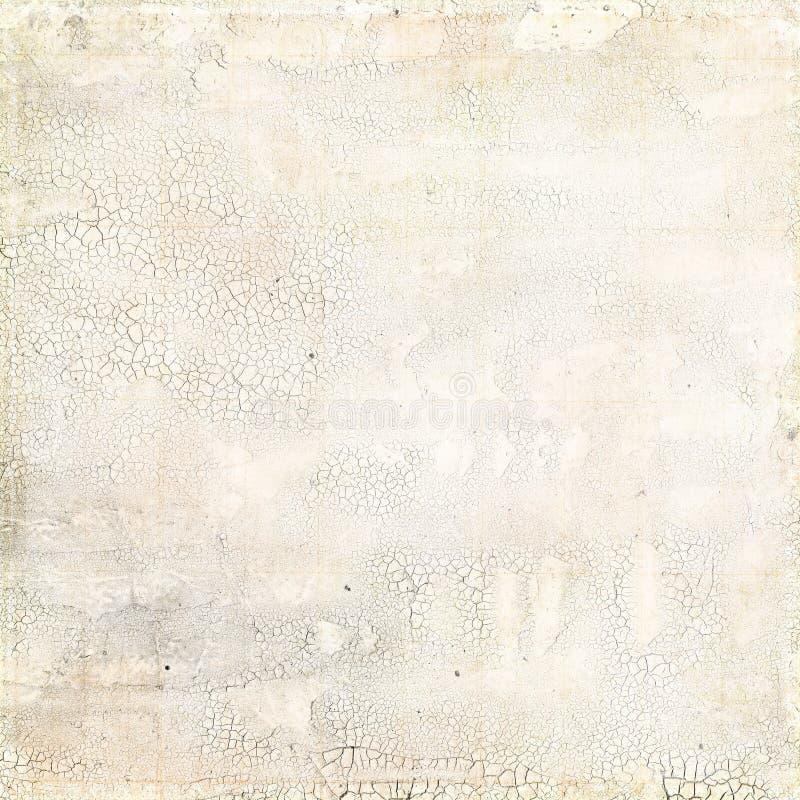 脏的空白困厄的有裂痕的纹理 免版税图库摄影
