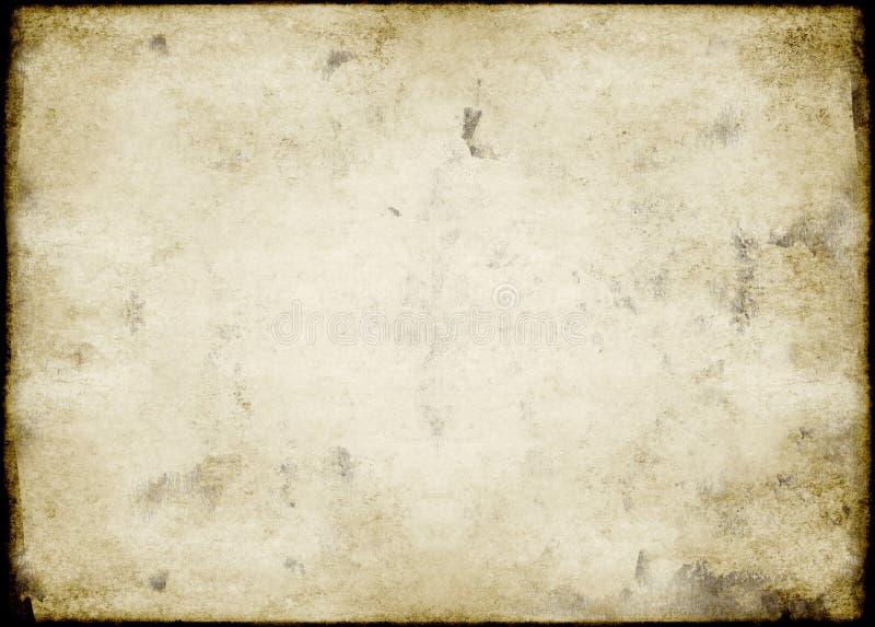 脏的纸葡萄酒 库存图片