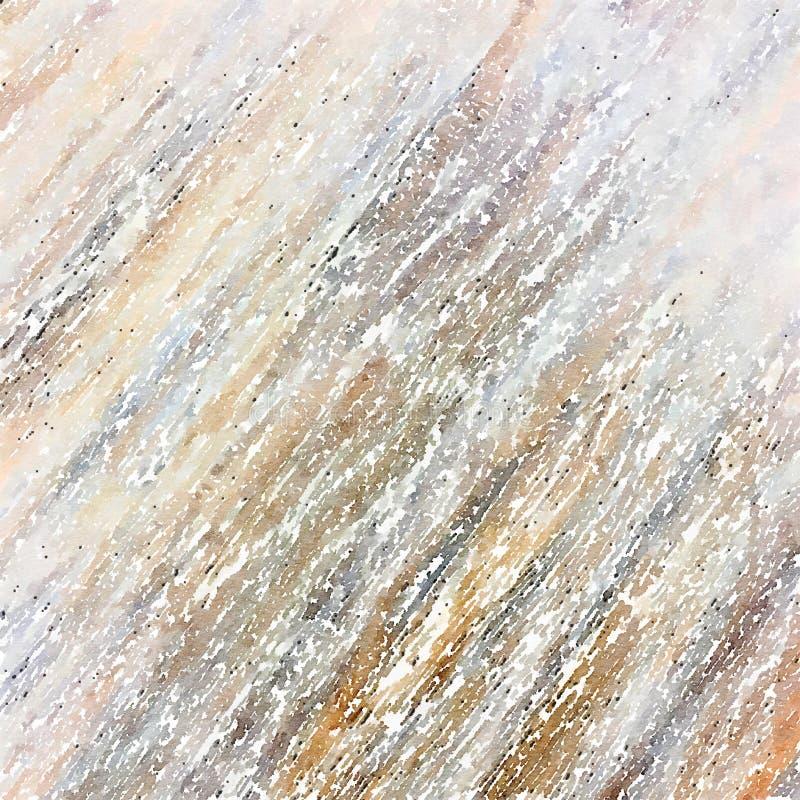 脏的线性抽象水彩最低纲领派墙壁艺术 免版税库存照片