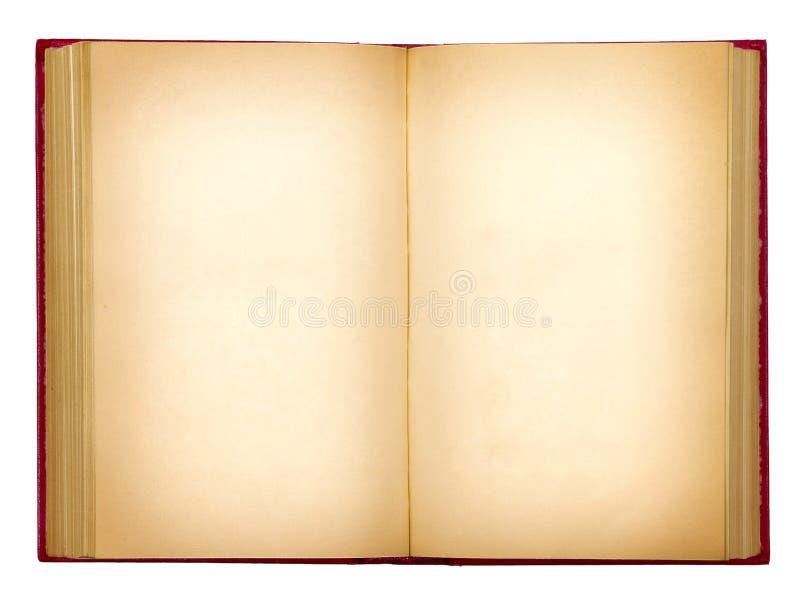 脏的老开放书 免版税库存图片