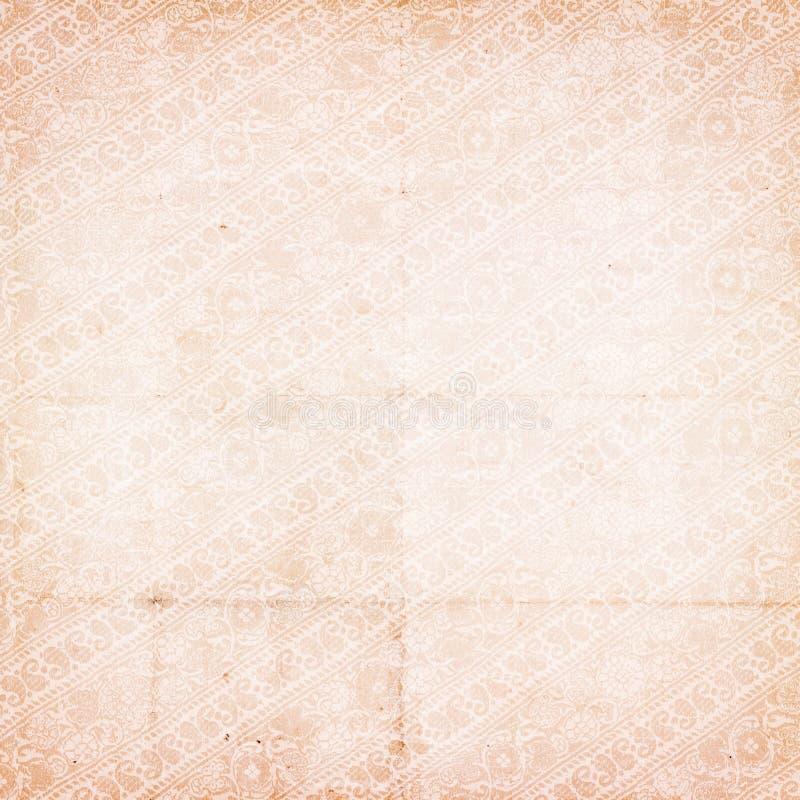 脏的葡萄酒古董困厄的佩兹利纸张 库存图片