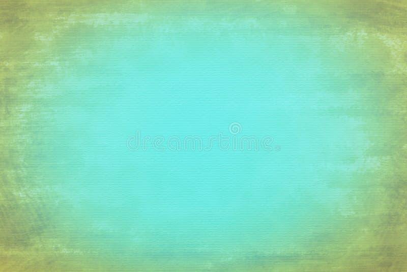 脏的绿松石纸纹理背景 免版税库存图片