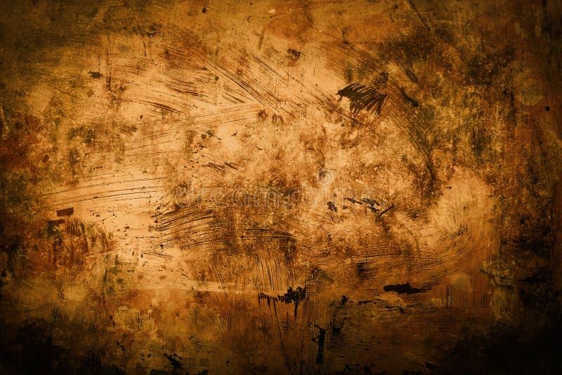 脏的rursty和被弄脏的墙壁背景或纹理 免版税库存图片