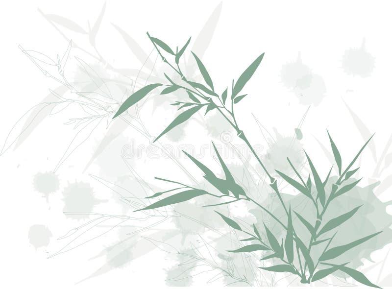 脏背景的竹子 皇族释放例证