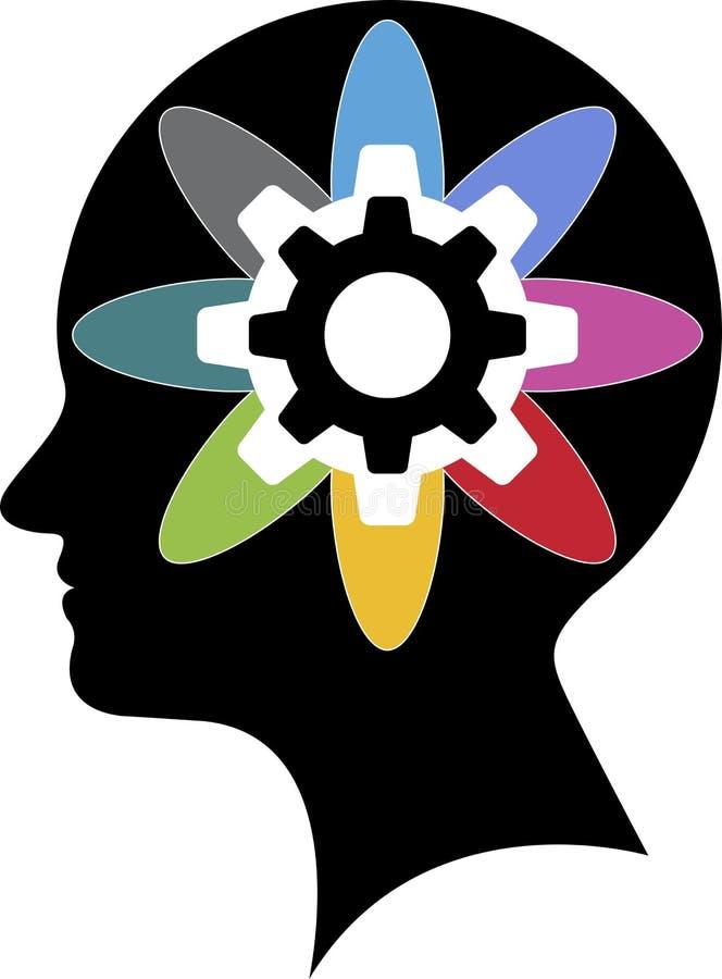 脑力商标 向量例证