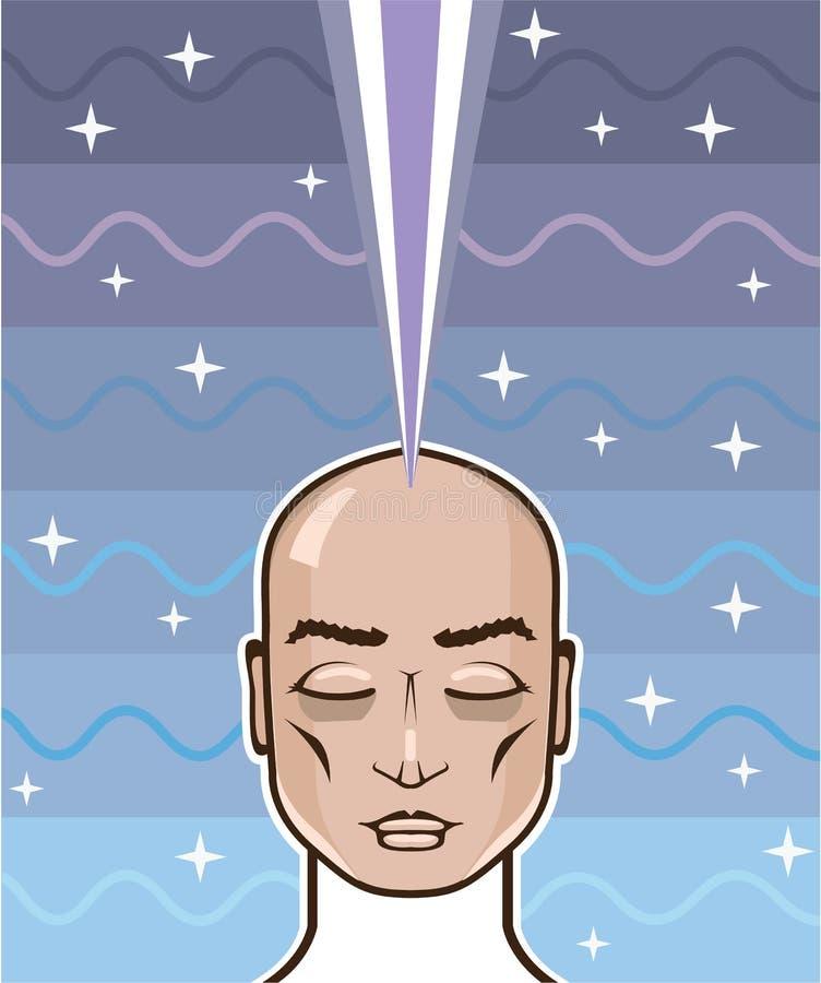 头脑力量星连接 皇族释放例证