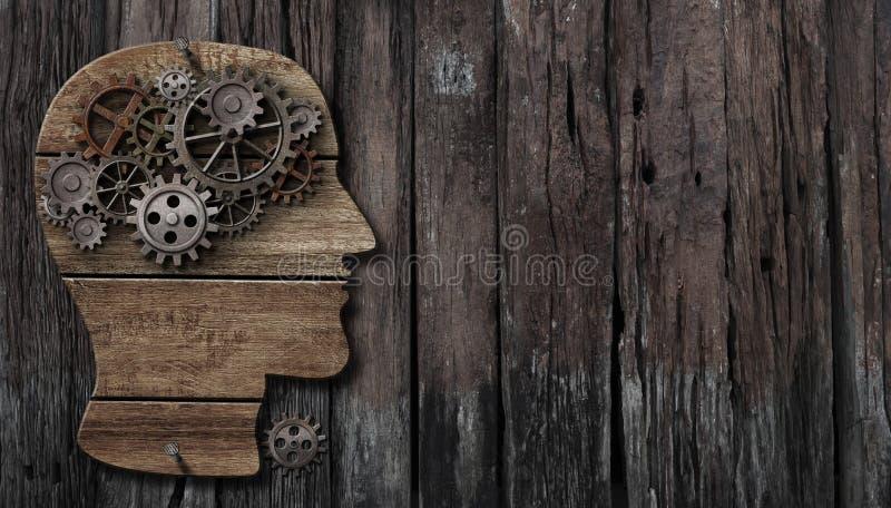 脑子作用、心理学、记忆或者精神活动概念 免版税库存照片