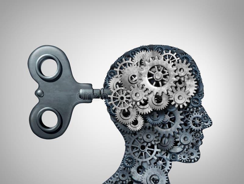 脑子作用标志 向量例证