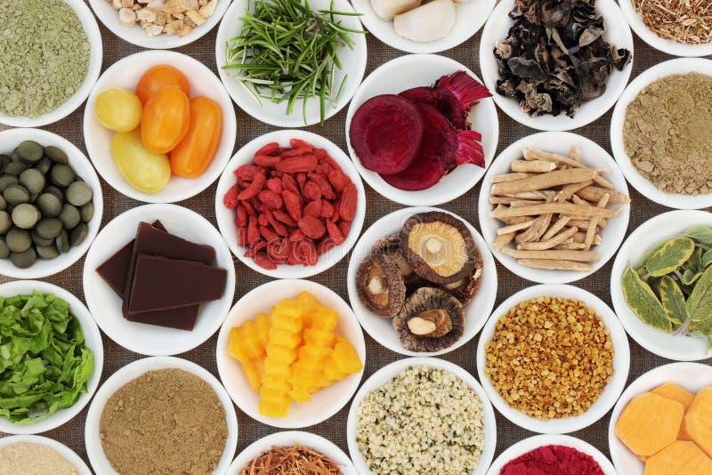 脑子促进的健康食品 免版税图库摄影