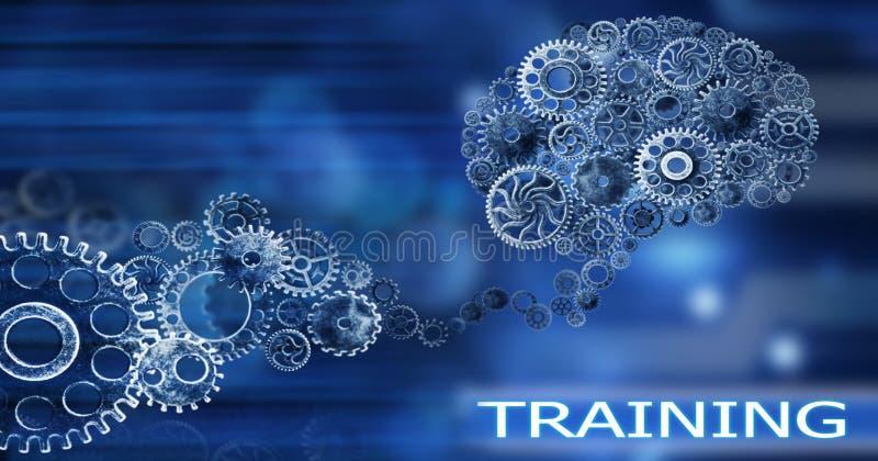 脑子修造出于嵌齿轮创新有想法和概念,训练,企业背景 皇族释放例证