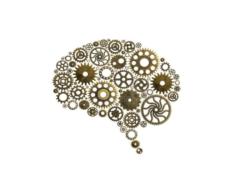 脑子修造出于嵌齿轮创新有想法和概念 免版税图库摄影