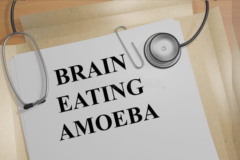 脑子吃变形虫细胞概念 向量例证