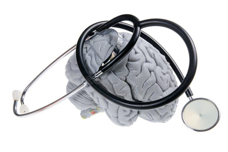 脑子听诊器 免版税图库摄影