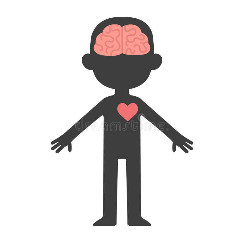 脑子和重点 库存例证