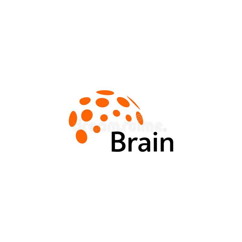 脑子商标剪影设计传染媒介模板 认为想法概念 头脑狂热力量想法的略写法象 查出 皇族释放例证