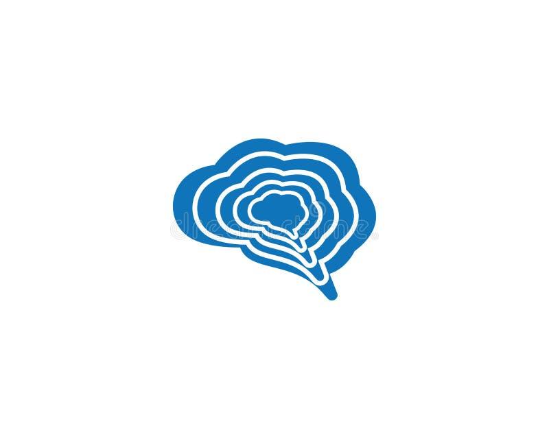 脑子商标模板传染媒介象 向量例证