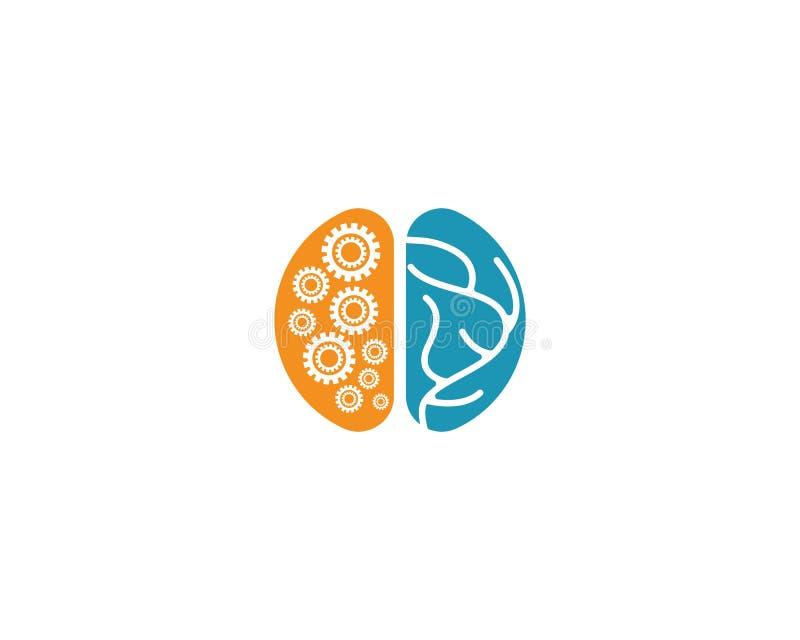 脑子商标模板 库存例证