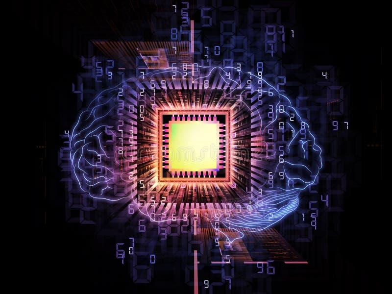 脑子处理器 库存例证