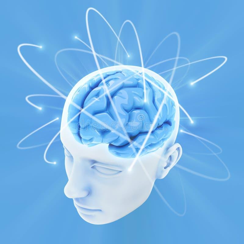 脑子头脑次幂 向量例证