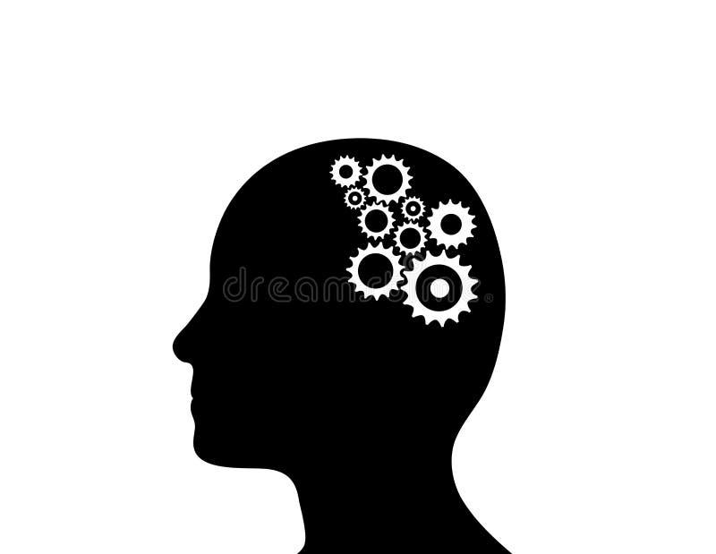 脑子嵌齿轮 皇族释放例证