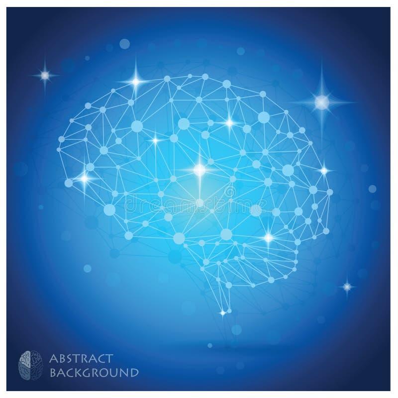 脑子形状摘要几何背景 向量例证