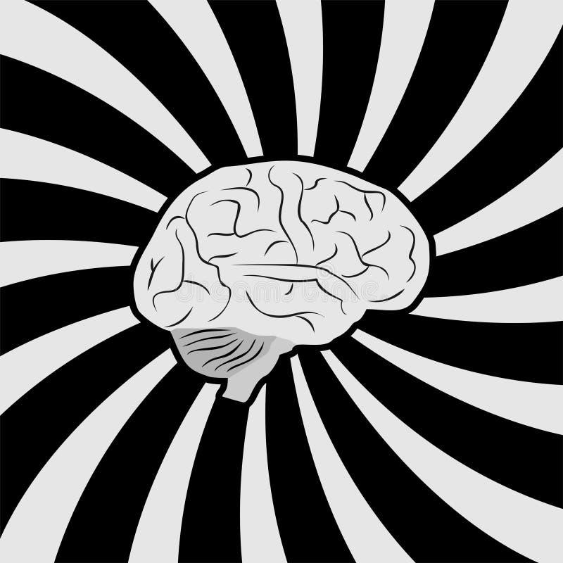 脑子心理学标志 皇族释放例证