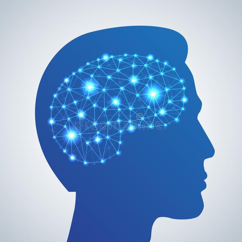 脑子网络象 向量例证