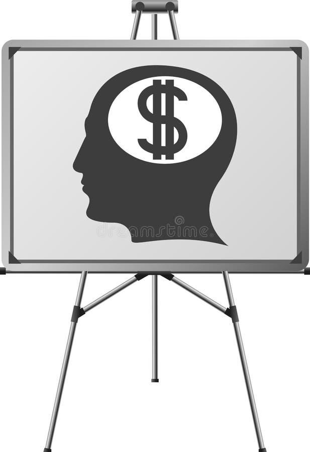 脑子美元人 向量例证