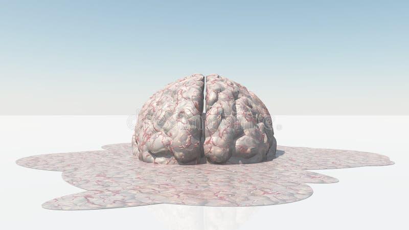 脑子融解 皇族释放例证