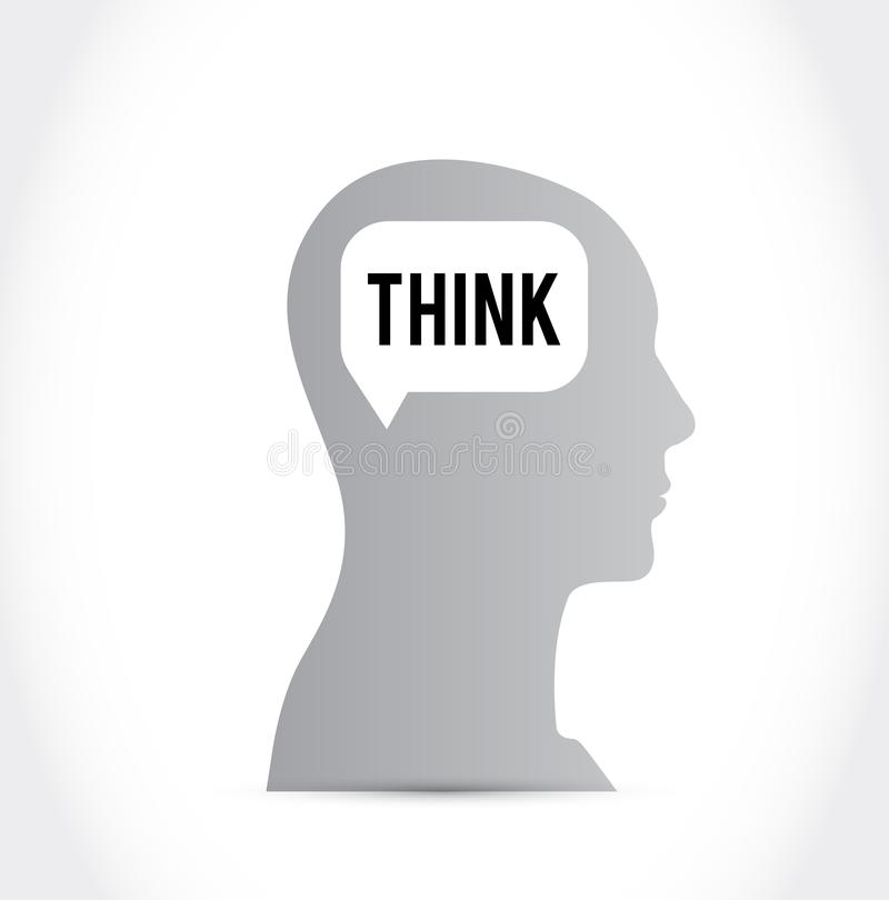 脑子认为 向量例证