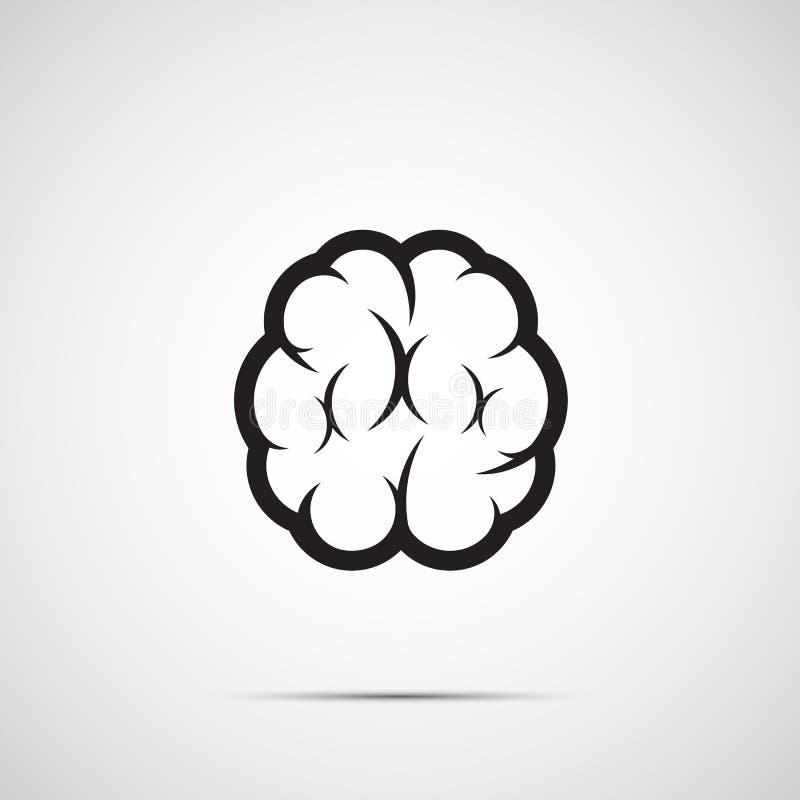 脑子象传染媒介 向量例证