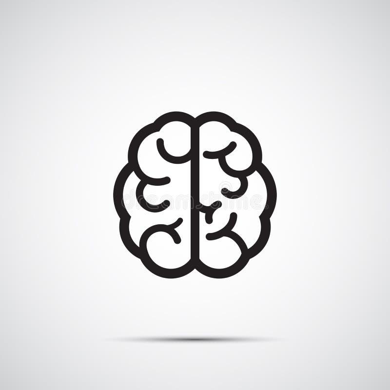 脑子象 库存例证