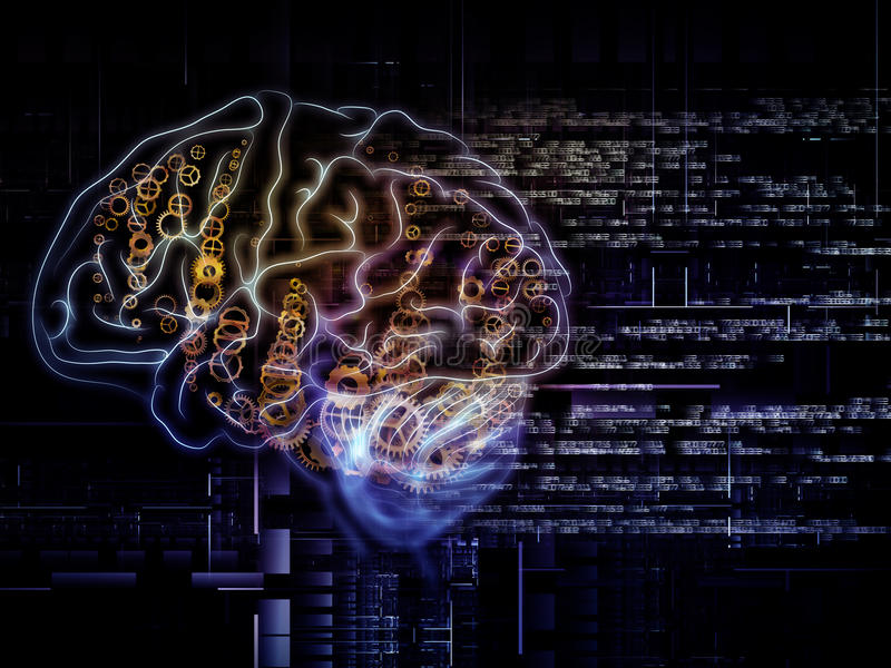 脑子路 向量例证