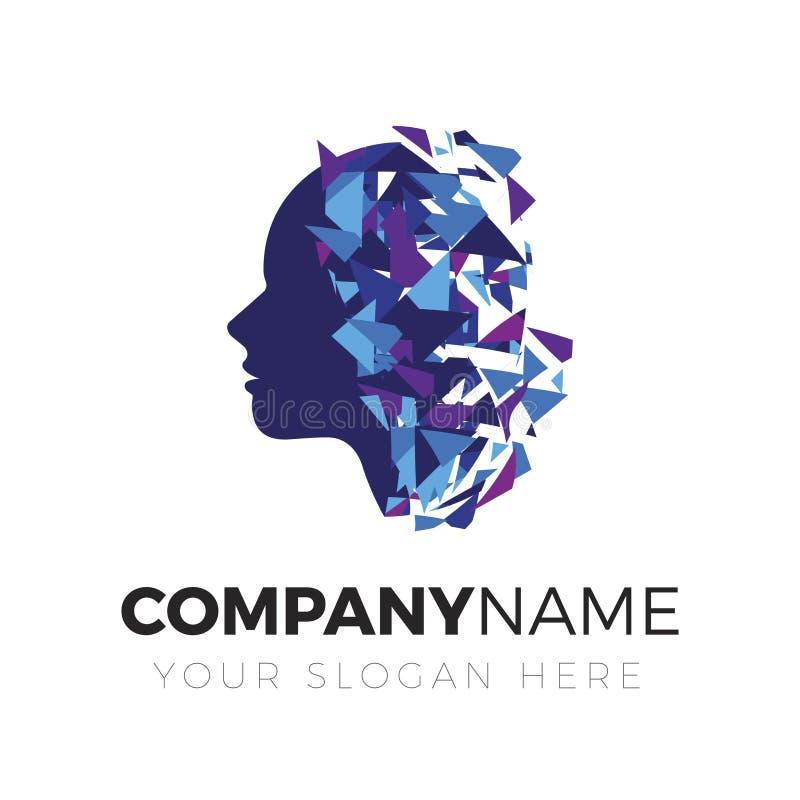 脑子,创造性的头脑,商标 库存例证