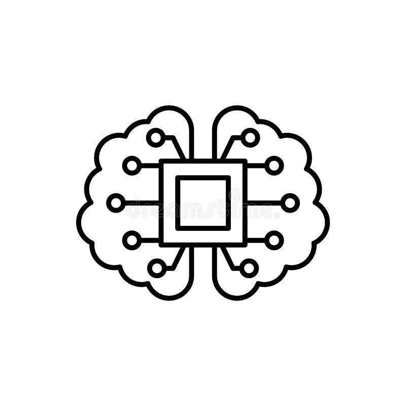 脑子,机制,智力象-传染媒介 r 皇族释放例证