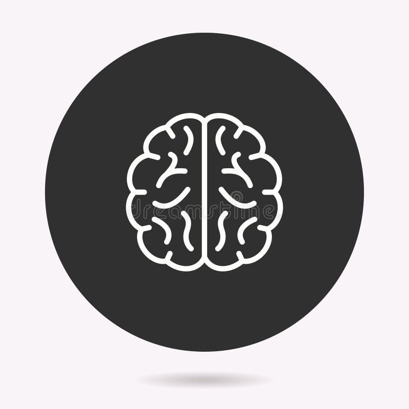 脑子-传染媒介象 r r 向量例证