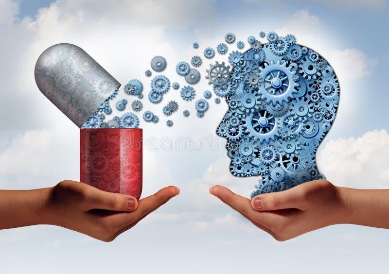 脑子Mredicine 向量例证