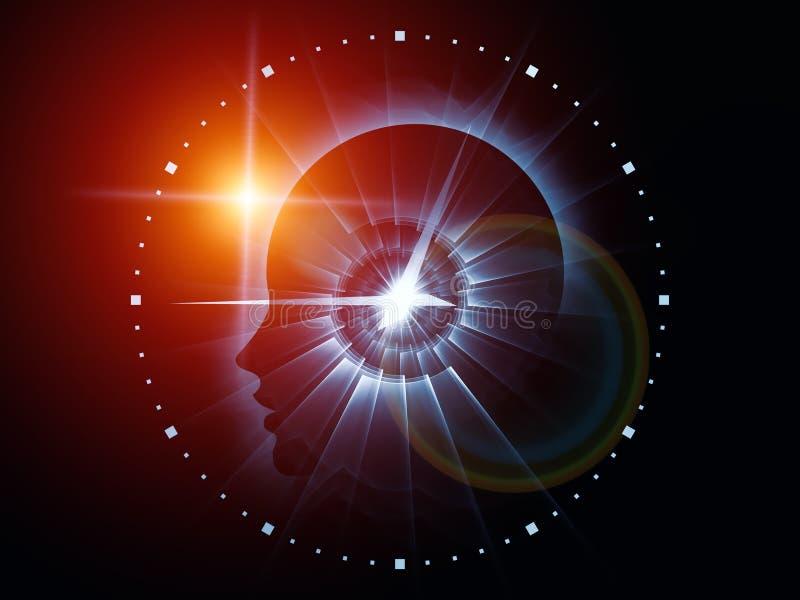 头脑时间 向量例证