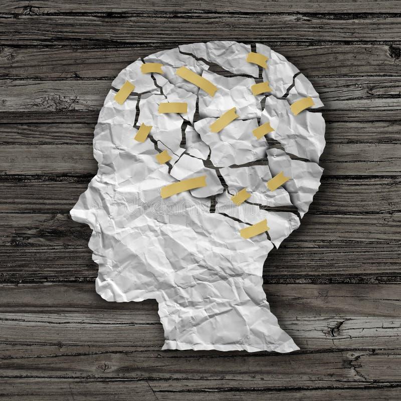 脑疾病疗法 向量例证