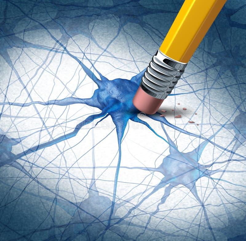 脑疾病 库存例证