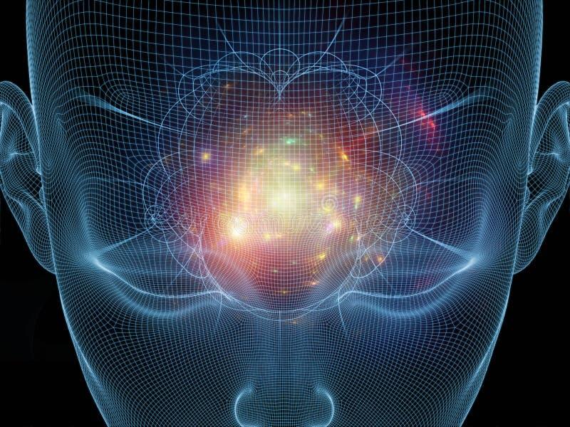 头脑的光 向量例证